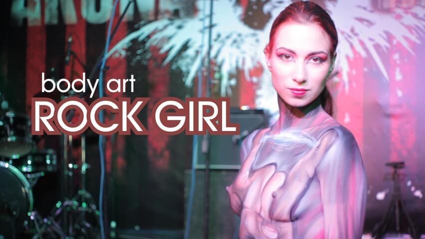 rock girl body art -