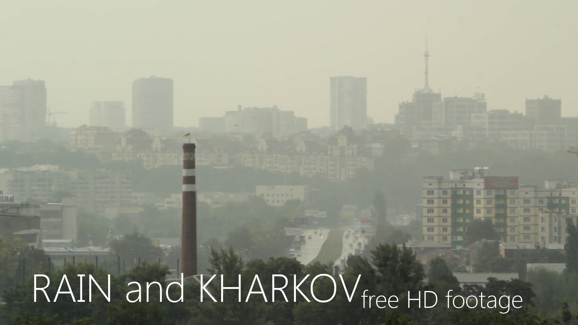 Rain in Kharkov Ukraine